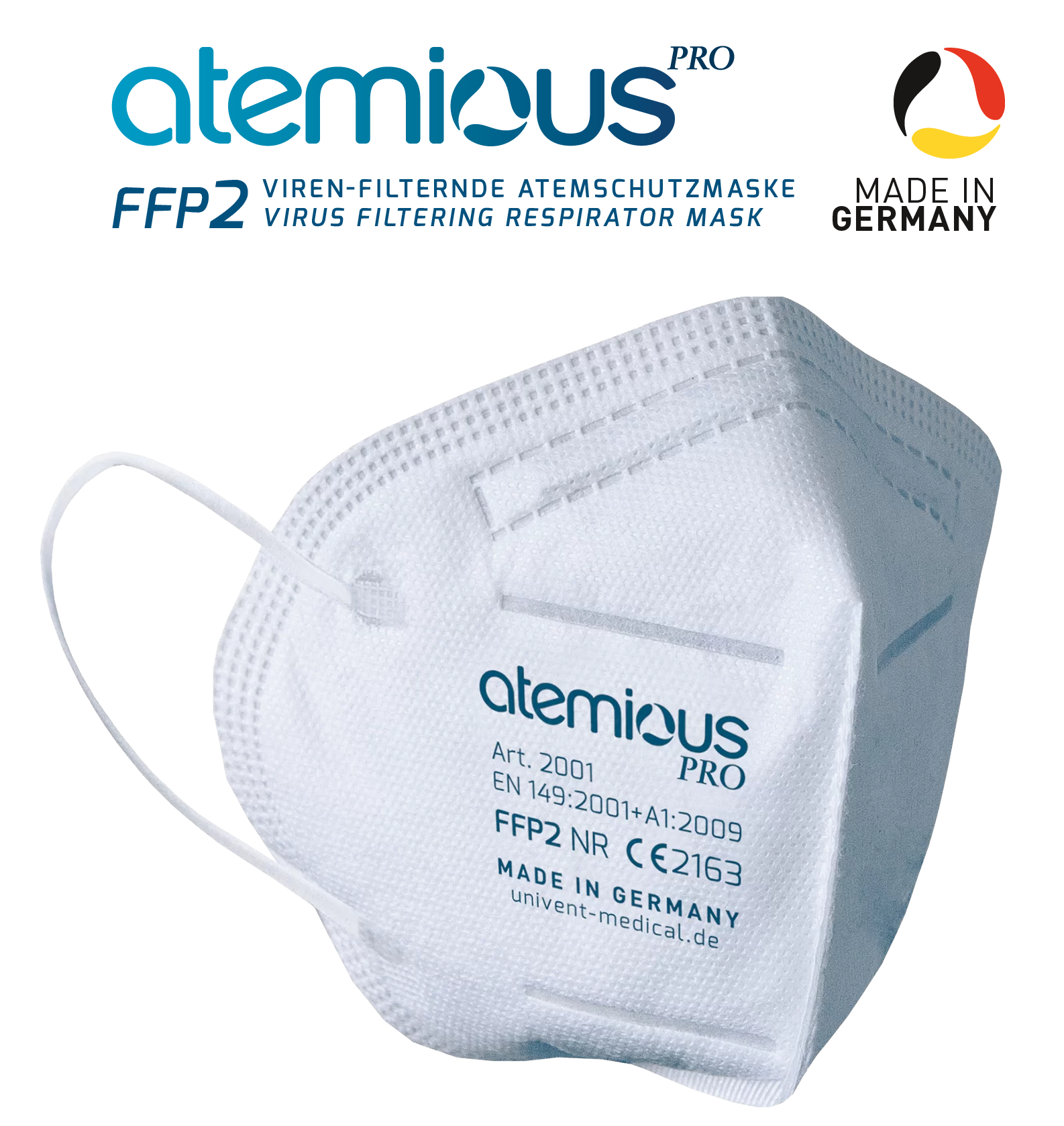Atemious Pro FFP2 Atemschutzmask, Made in Germany