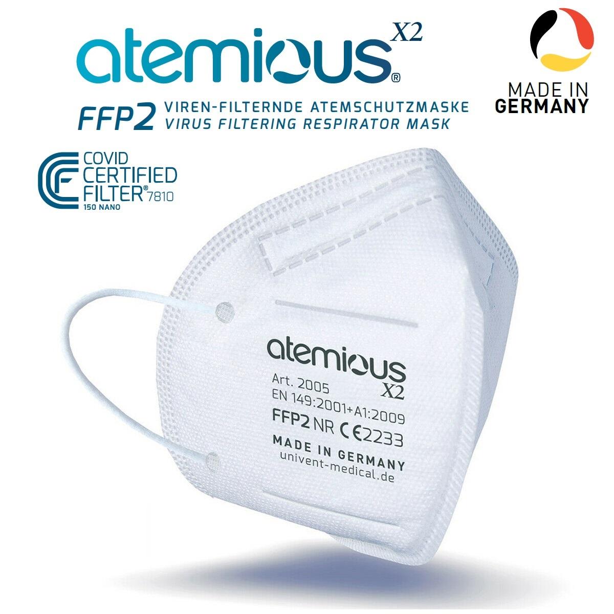 Atemious X2 Atemschutzmask, Made in Germany